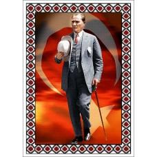Atatürk Halı Portresi 50 x 70 cm. No:13