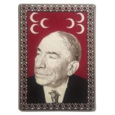 Alparslan Türkeş Halı Portresi 50 x 70 cm. No:1